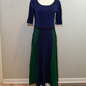 Boden blue green stretch knitted dress Brione